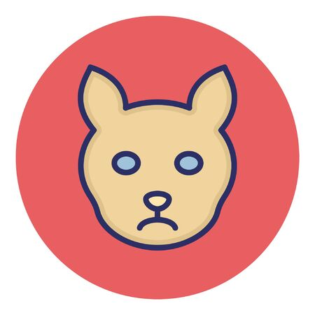 Cat  Isolated Vector Icon