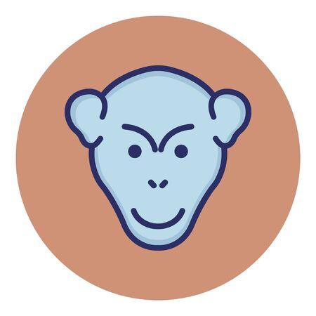 Gorilla  Isolated Vector Icon