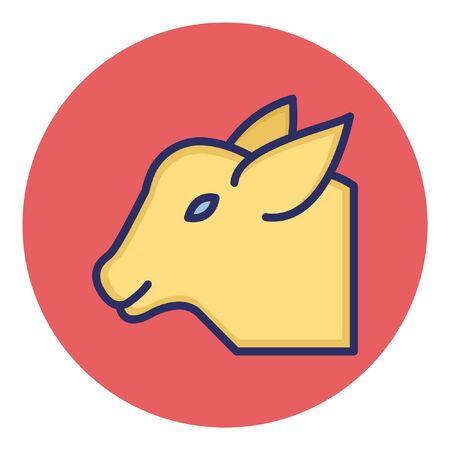 Goat  Isolated Vector Icon