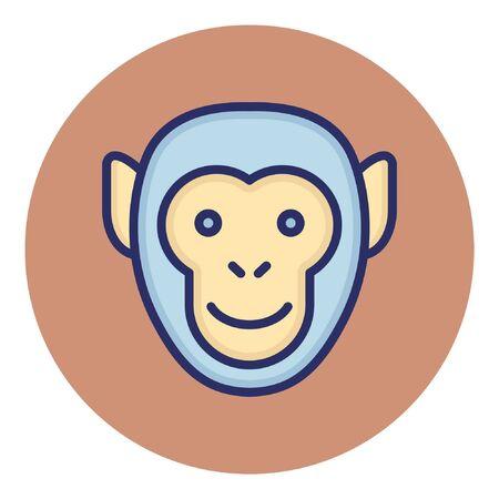 Monkey  Isolated Vector Icon