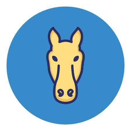 Donkey  Isolated Vector Icon