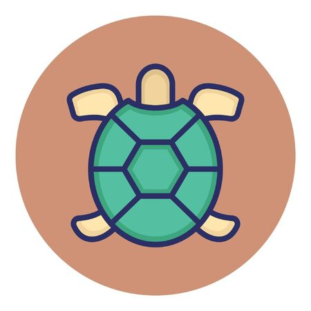 Tortoise  Isolated Vector Icon Illustration
