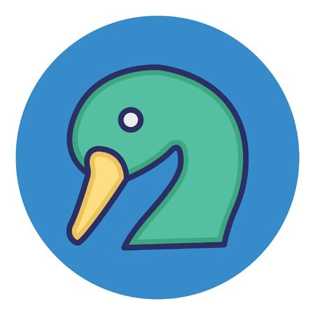 Duck  Isolated Vector Icon