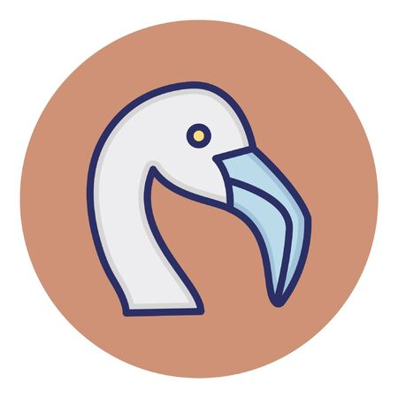 Seagull  Isolated Vector Icon
