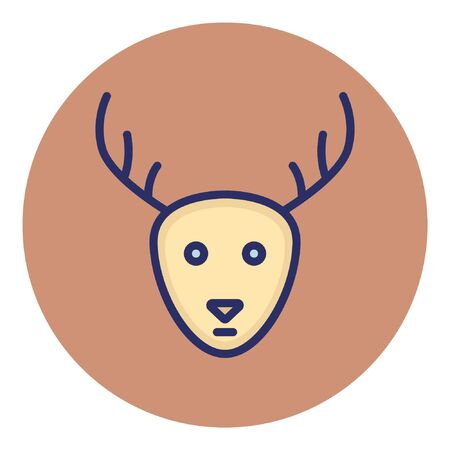 Reindeer  Isolated Vector Icon Illustration