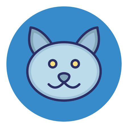 Cat  Isolated Vector Icon which Illustration