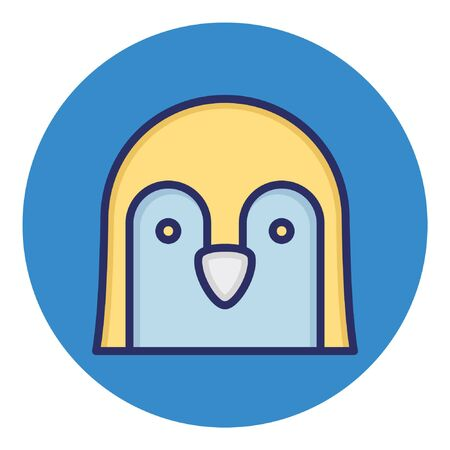 Penguin  Isolated Vector Icon Иллюстрация
