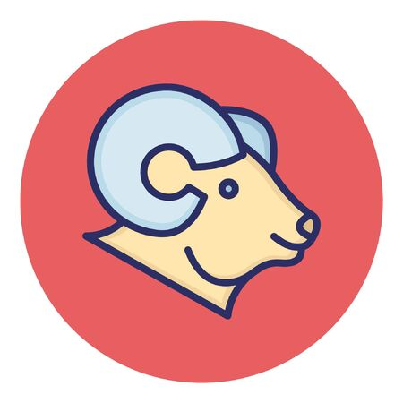 Mountain Goat  Isolated Vector Icon