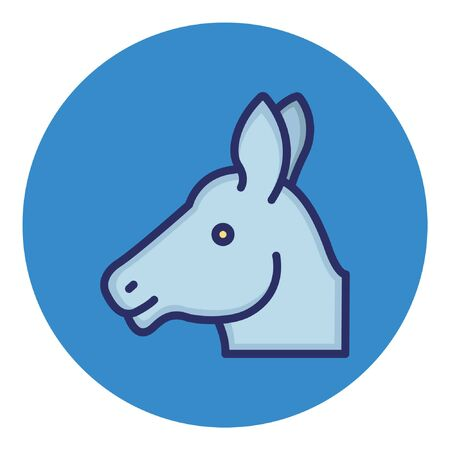 Horse  Isolated Vector Icon