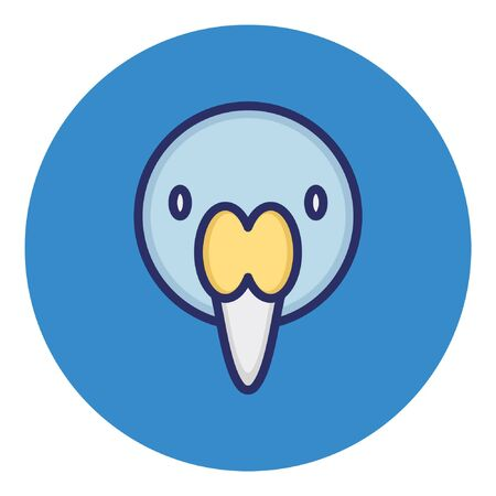 Stork  Isolated Vector Icon
