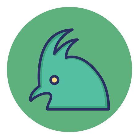 Cockatoo  Isolated Vector Icon