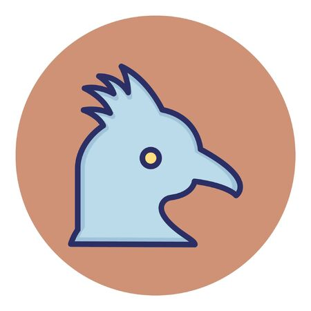 Rooster  Isolated Vector Icon Çizim