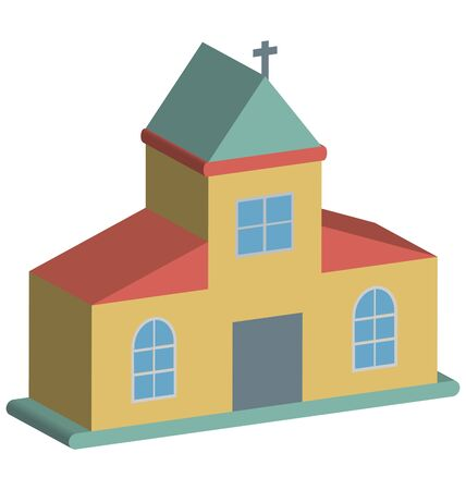 Church Vector Icon Çizim