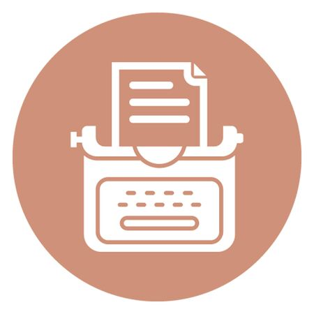 Author concept vector icon which can easily modify or edit