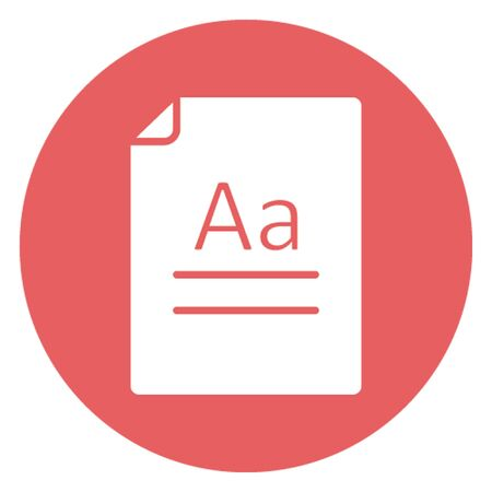 Document vector icon which can easily modify