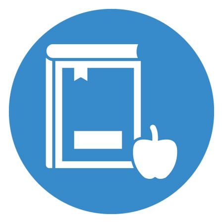 Apple with book vector icon which can easily modify