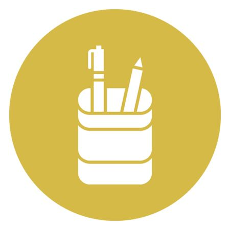 Pencil case vector icon which can easily modify 向量圖像