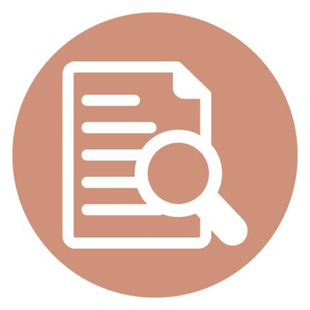 Document review vector icon which can easily modify