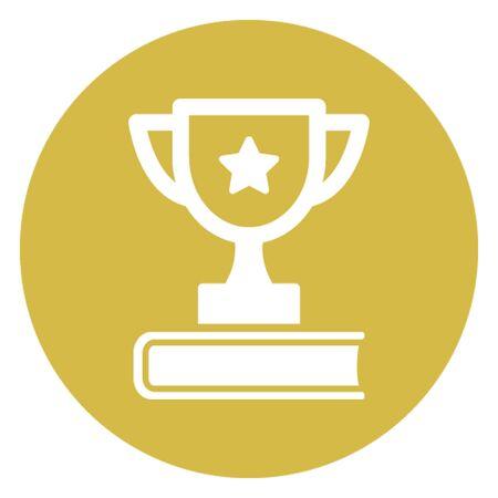 Book award vector icon which can easily modify 向量圖像