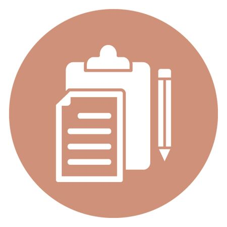 Copywriting vector icon which can easily modify Illustration