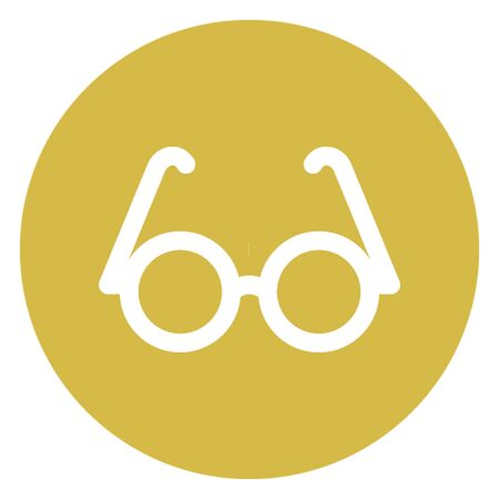 Eye glasses vector icon which can easily modify