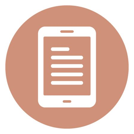Blog site vector icon which can easily modify