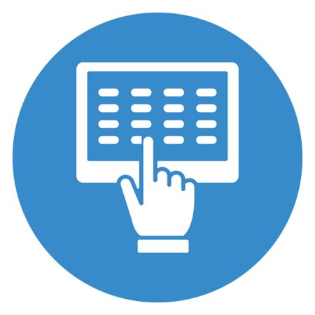 Computer engineering vector icon which can easily modify