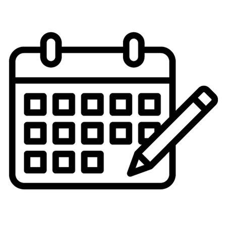 Calendar vector icon which can easily modify or edit