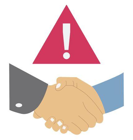 Avoid handshake Color Vector  icon editable