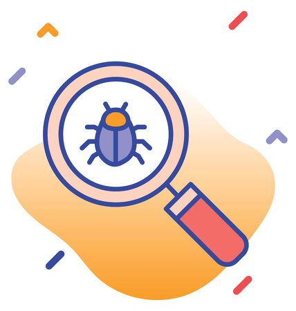 Search, test, virus test, test kit fully  vector icon