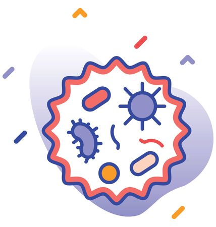 Coronavirus, Corona, Covid-19 fully editable vector icon