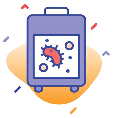 Laboratory test, testing machine  test, reporting fully editable vector icon