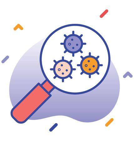 Search, test, virus test  test kit fully editable vector icon 向量圖像