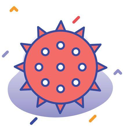 Coronavirus, Corona, Covid-19  nCoV fully editable vector icon 向量圖像