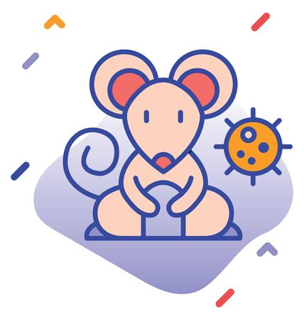 Rats, infection, cause  editable vector icon 向量圖像