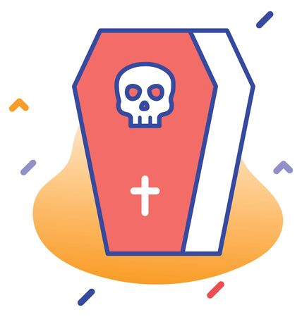 Death, rip, rest in peace editable vector icon 向量圖像