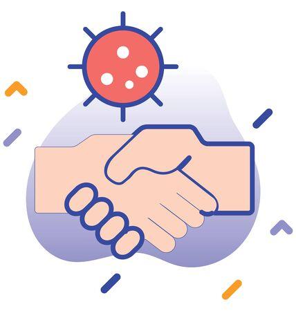 Avoid hand shake, hand shake vector icon