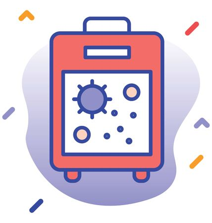 Laboratory test, testing machine    editable vector icon Illustration