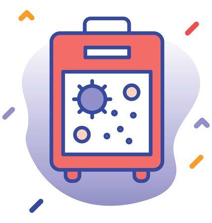 Laboratory test, testing machine    editable vector icon 向量圖像