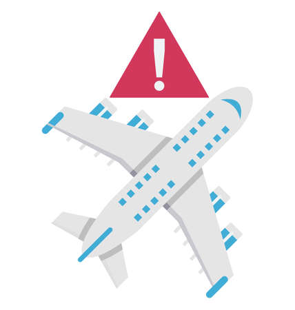 Avoid travelling Color Vector Illustration