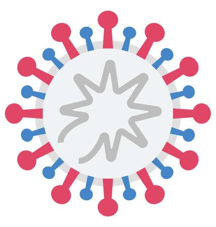 coronavirus Symbols Color Vector Illustration