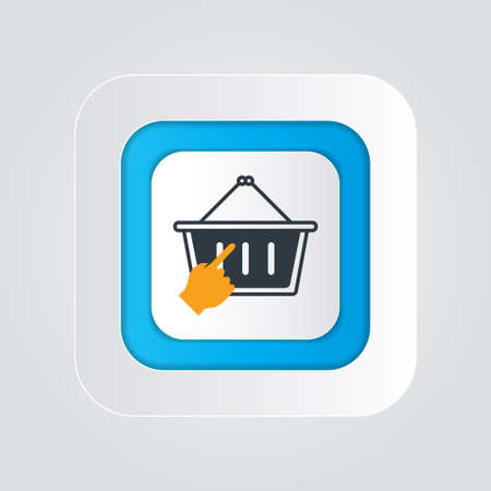 Click the Shopping icon isolated on a white background (shopping basket). vector illustration elements