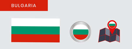 Flag of Bulgaria in official colors, embed map, as the original
