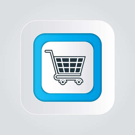 Shopping icon with isolated on a white background(shopping cart). vector illustration elements