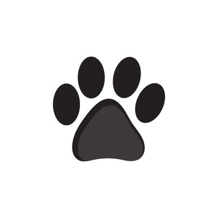 Dog or cat footprint icon on a white background Illustration