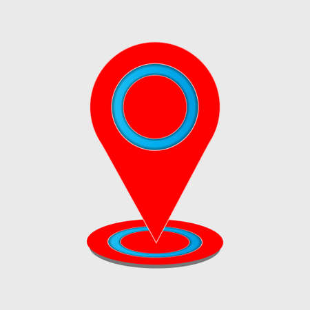 pin icon on the map with a white background