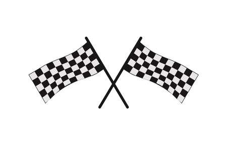 icône d'échiquier pour le symbole d'arrivée dans une course ou un championnat de course automobile ou moto