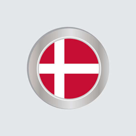 The Danish flag is isolated on official colors, embed maps, like the original Stock Illustratie