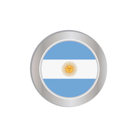 The simple Argentine flag was isolated in official colors (blue and white) with the sun, like the original