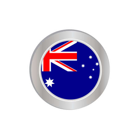 Australian flag with a commonwealth stars / federation in the field of ties and a southern cross on half the flag